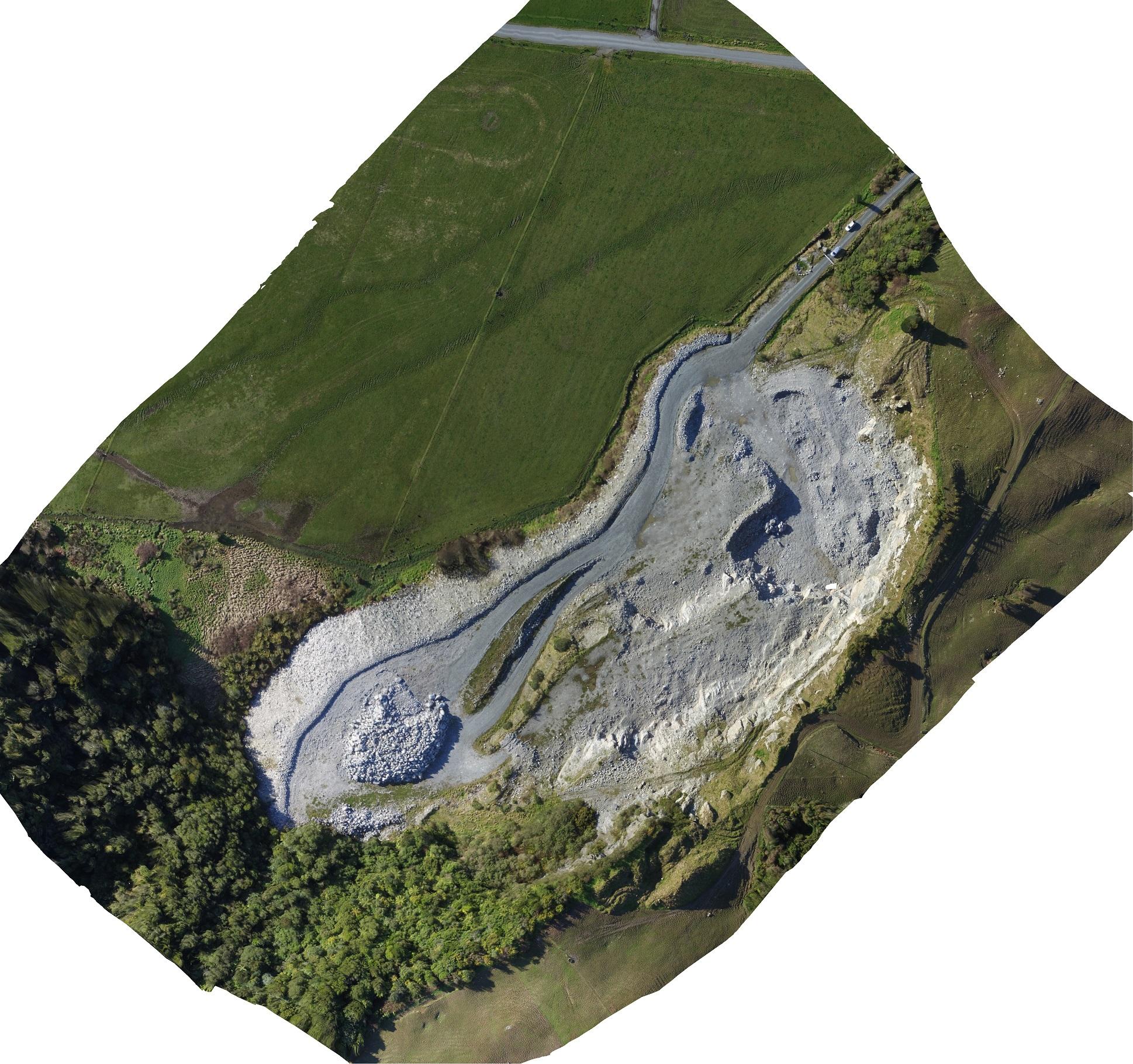 Orthorectified Photo of the Camelback Quarry