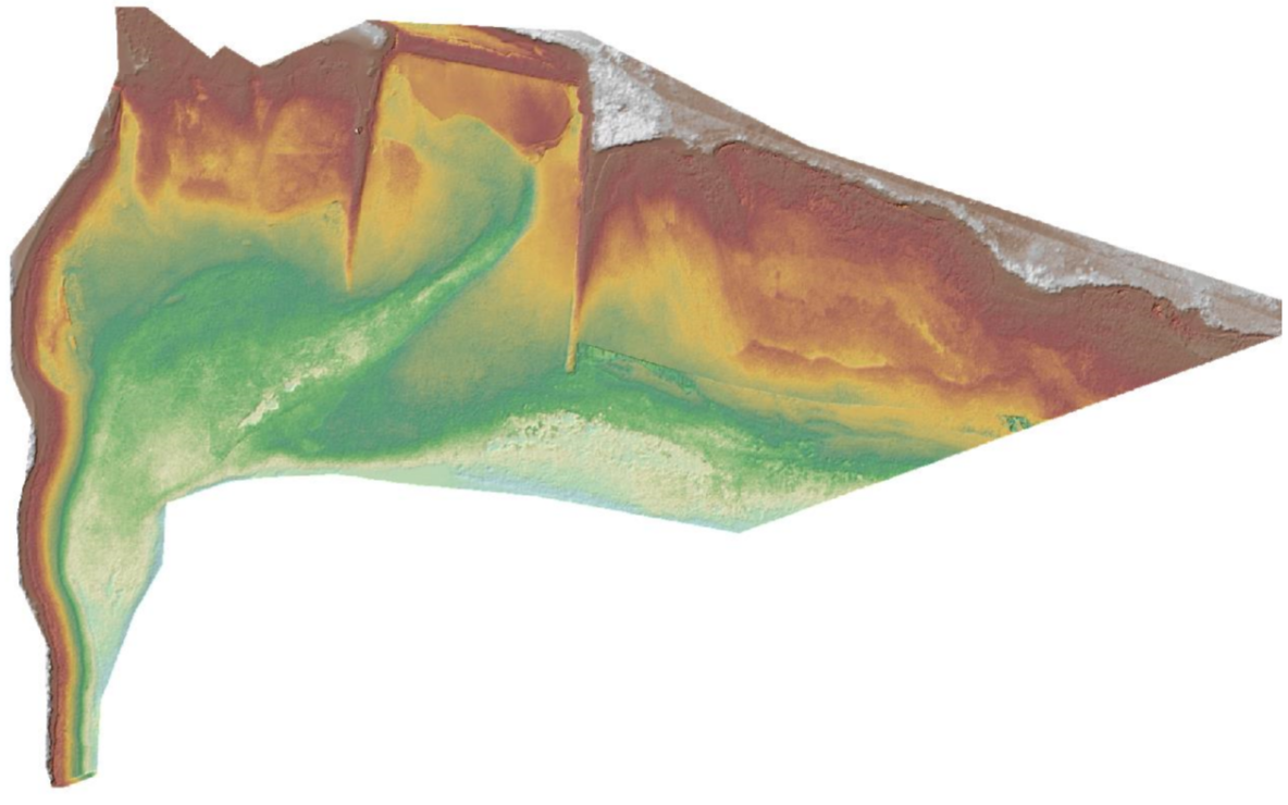 Resulting DEM from optical bathymetry technique