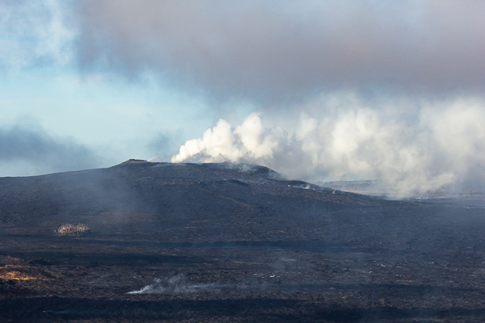 Kilauea from the air. Steam rising up from everywhere made for very hazy shots.