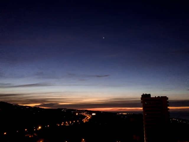Venus in the pre-dawn sky