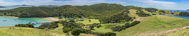 Breathtaking Views - Otehei Bay on the left across the island to Urupukapuka Bay
