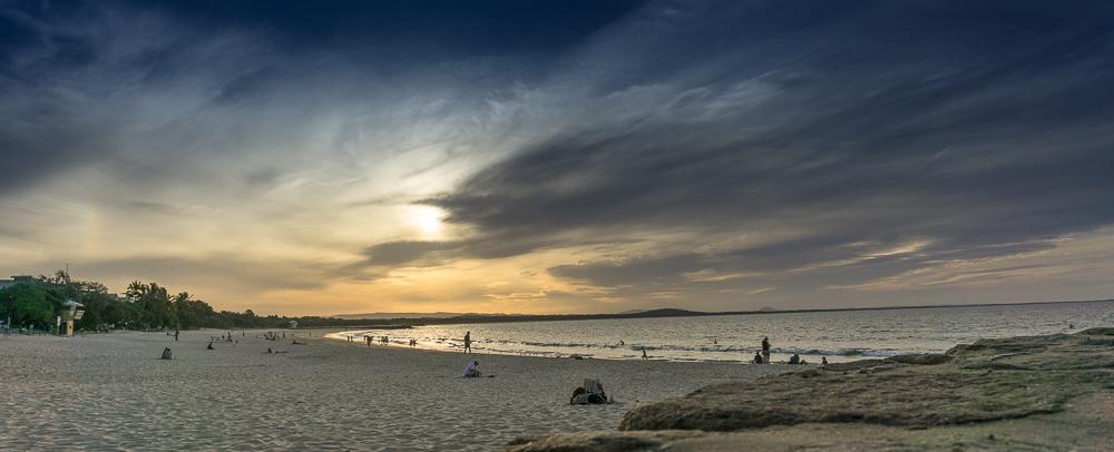 Sunset over Noosa Beach