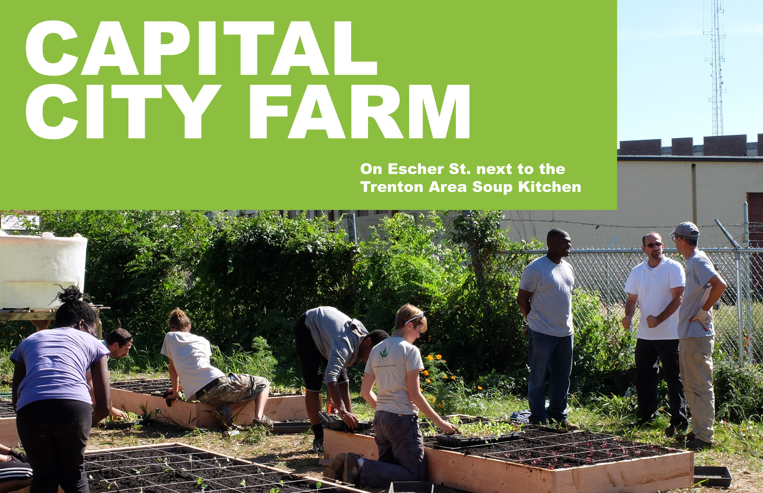 AN URBAN FARM THAT WILL SERVE THE PEOPLE.
