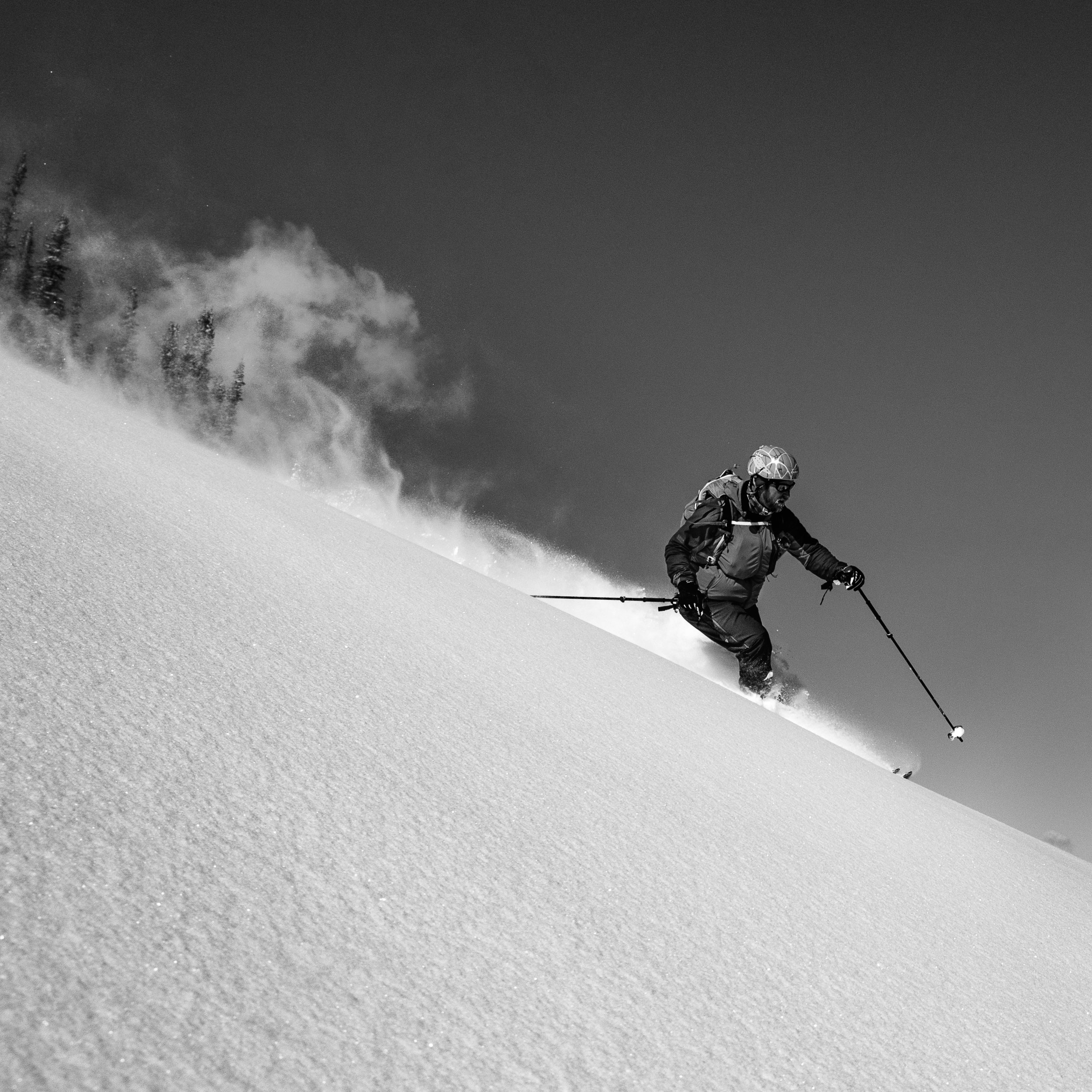 This image is as much about the skier as it is about the powder dragon. Lets just say Paddy slayed the dragon.