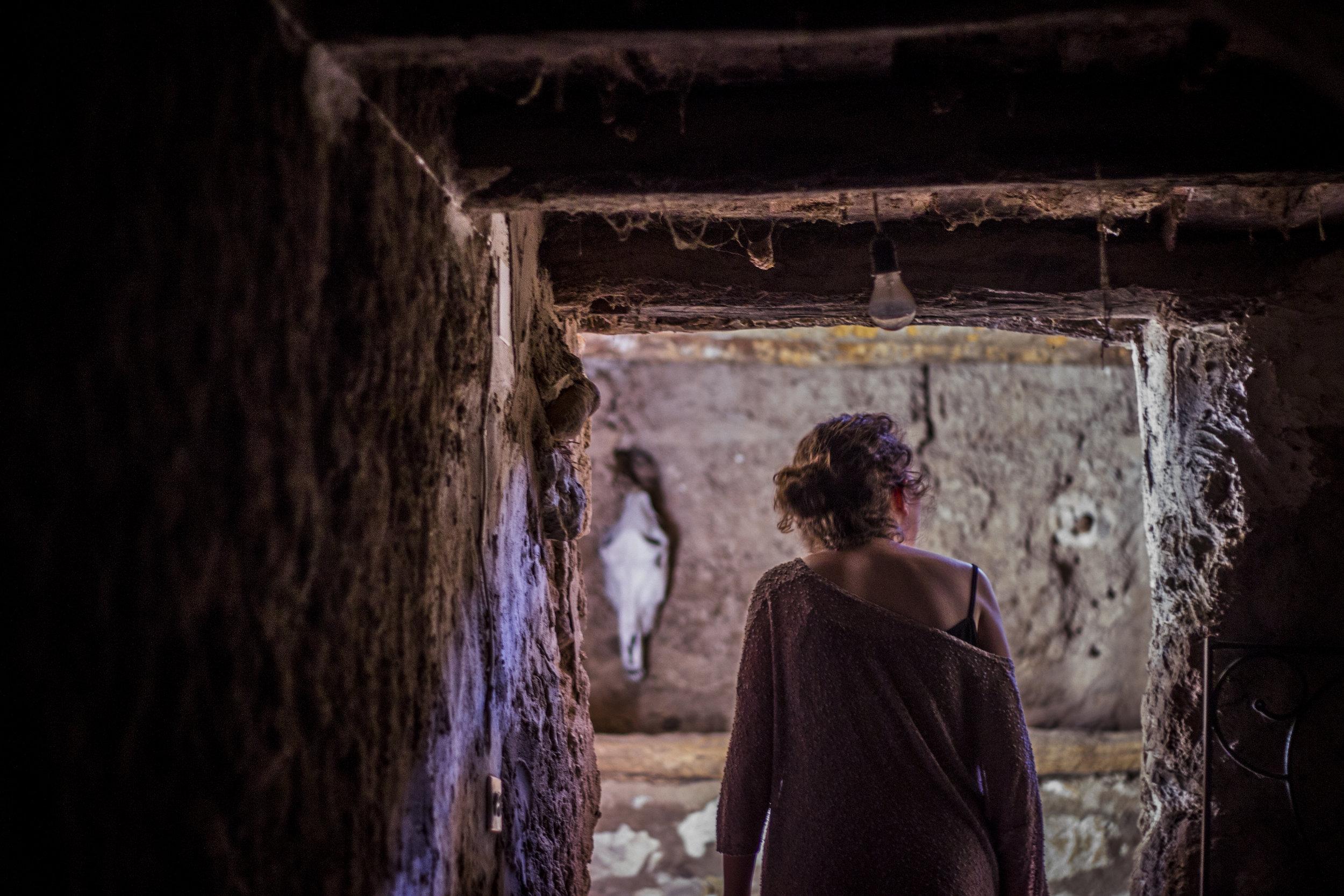 Nicoletta Favari exploring a Spanish countryside home in  Torralba de Ribota .