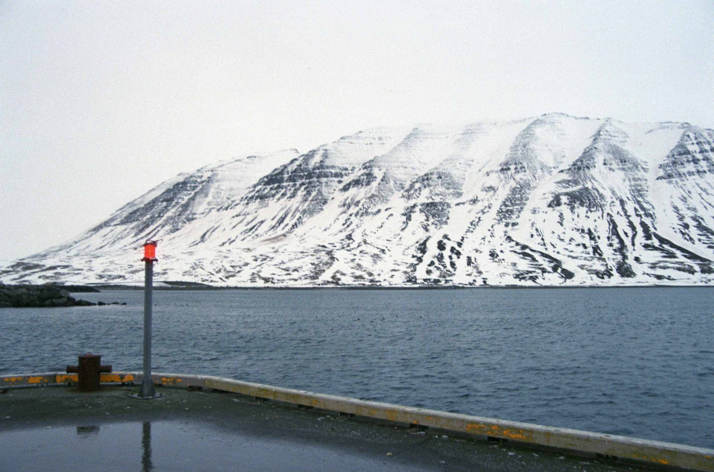 Looking across the fjord