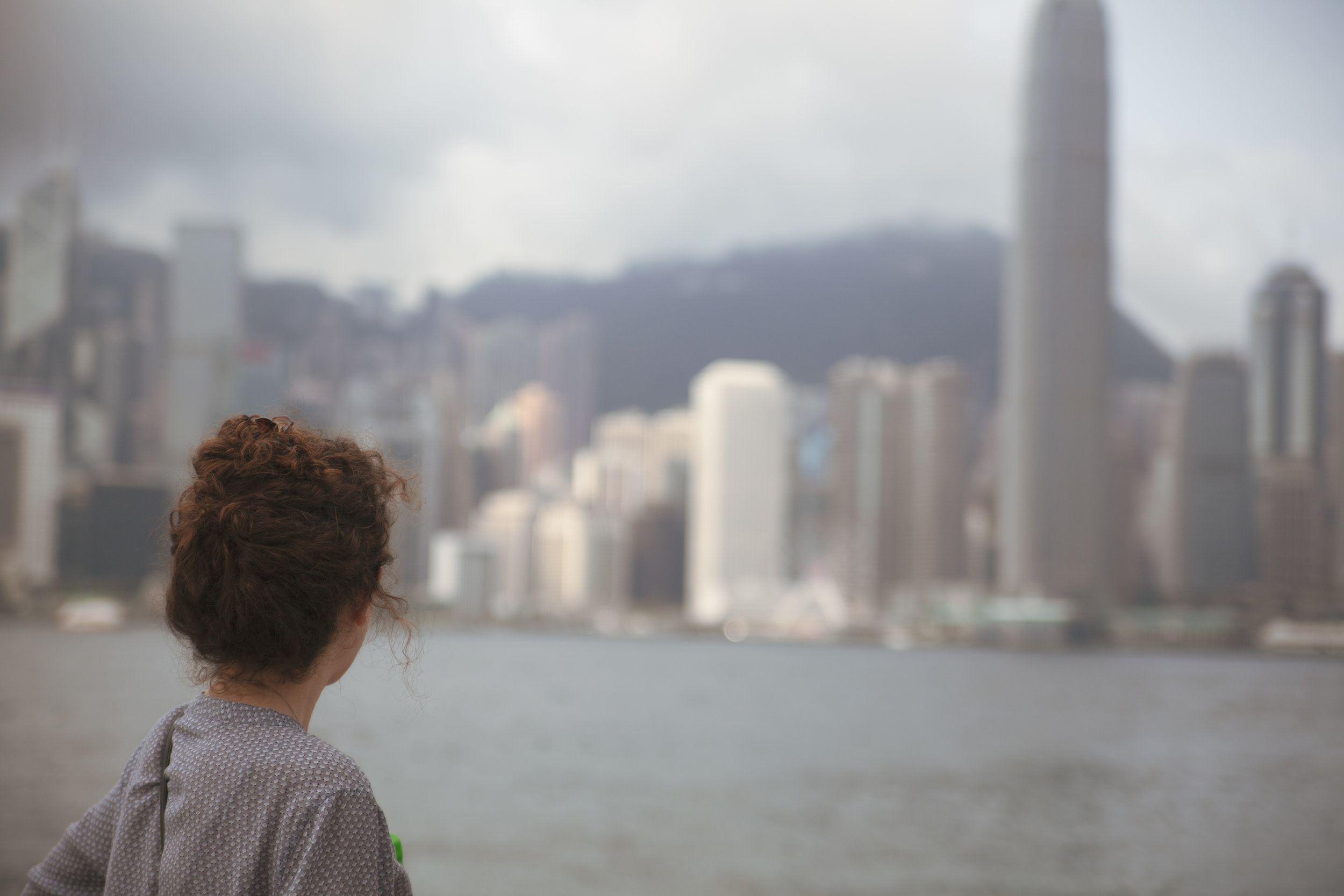 Hong Kong Island in view from Kowloon