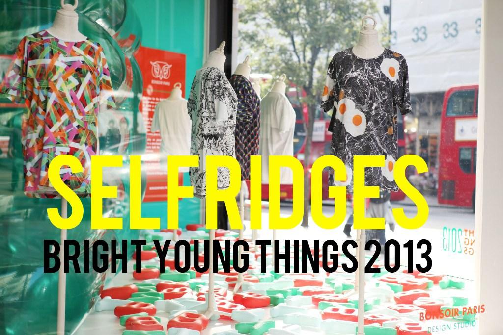 T Shirt Design - Selfridges London - Bright Young Things Showcase