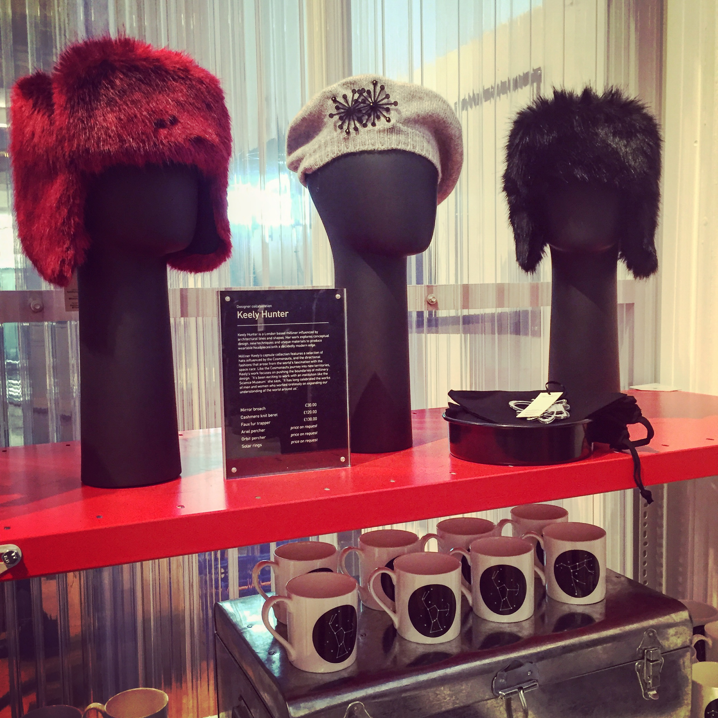 Cashmere Berets & Faux Fur Trappers - The Cosmonauts Exhibition - The Science Museum