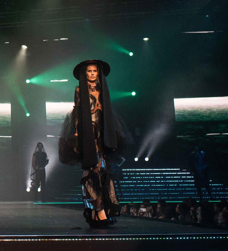 Scarf Hat - The Clothes Show Live (Styled by Karl Willett)