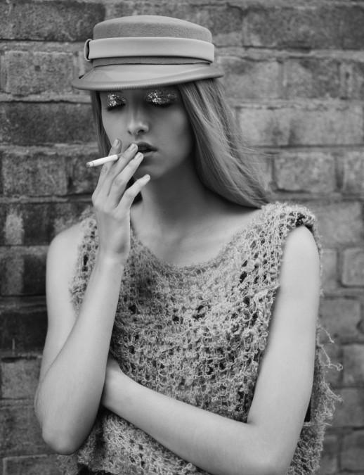 Pillbox Peak Hat - S Magazine X Rankin (Styled by Kim Howells)