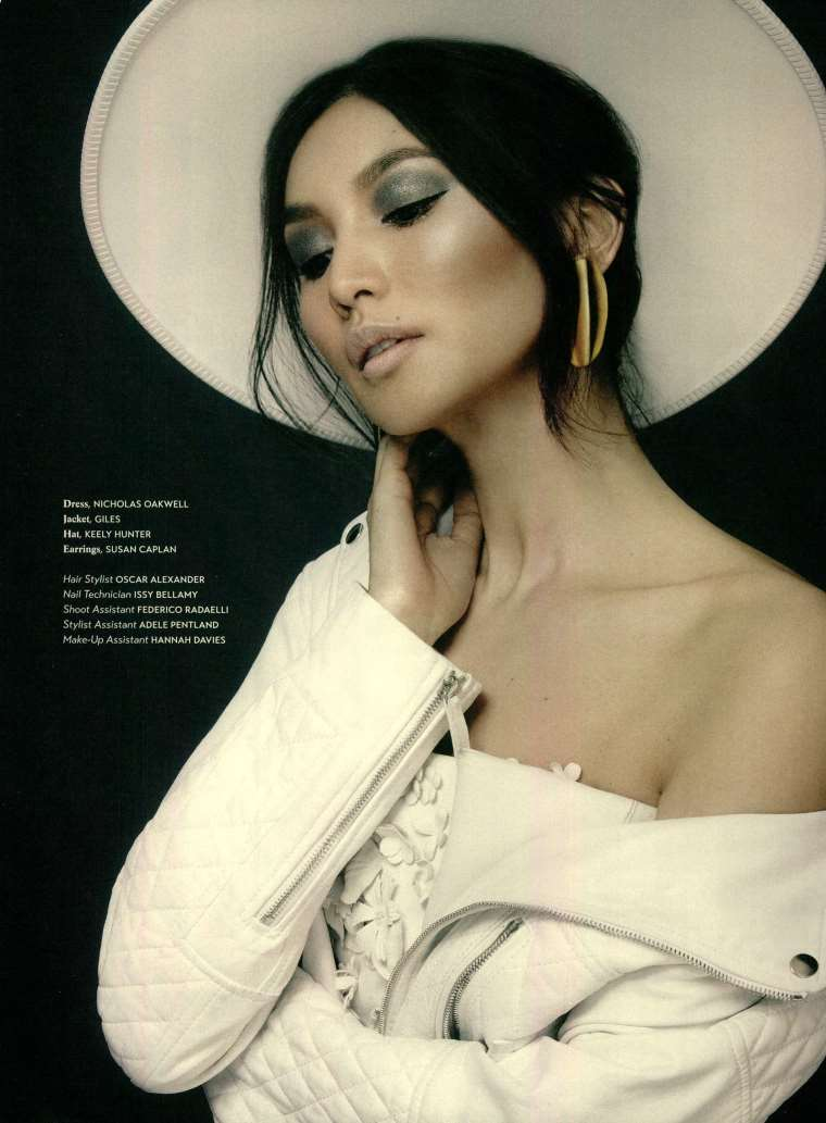 White Brim - Gemma Chan - Phoenix Magazine (Styled by Karl Willett)