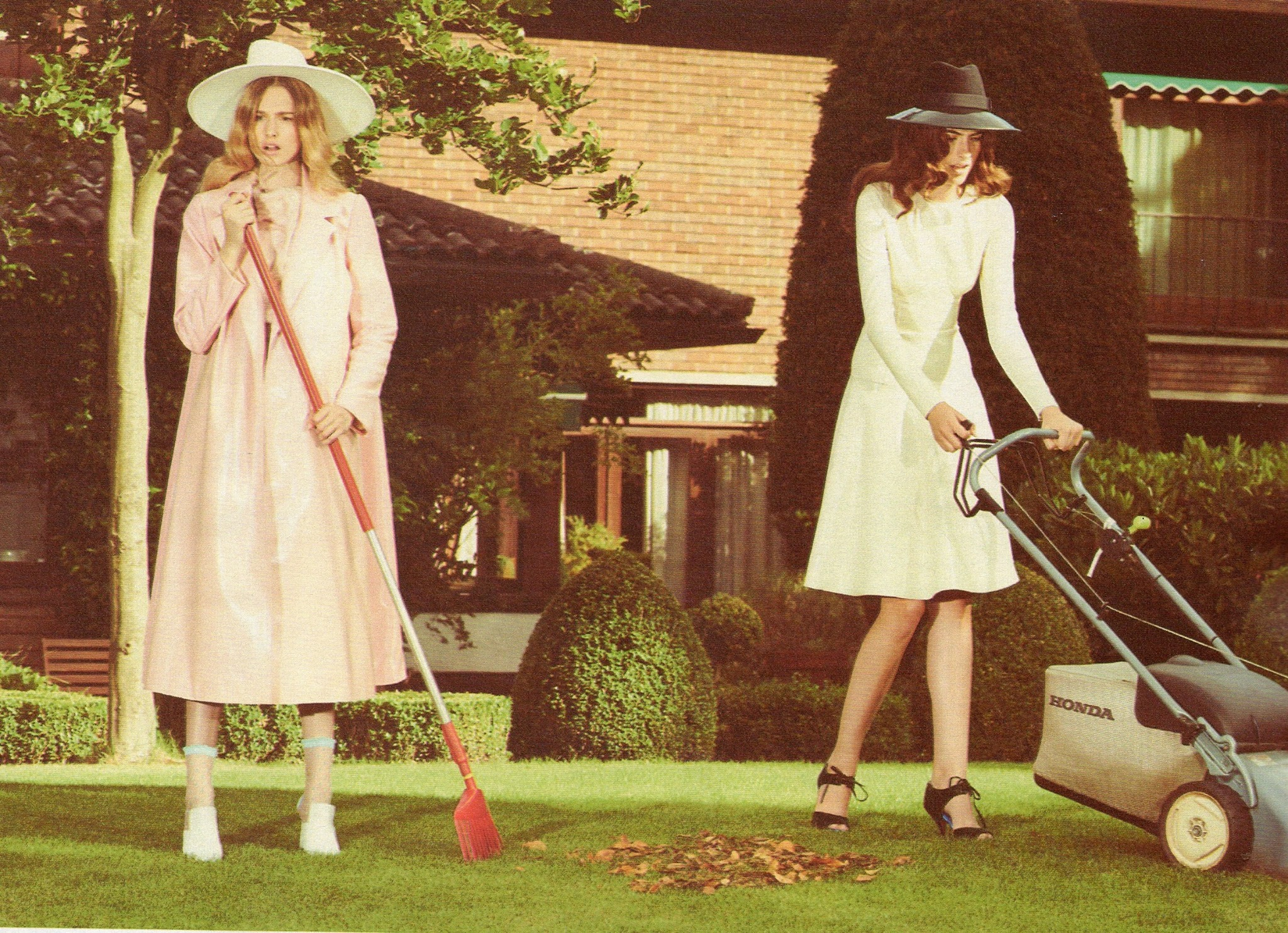 White Brim & Black Fedora - Grazia UK (Styled by Gemma Hayward)