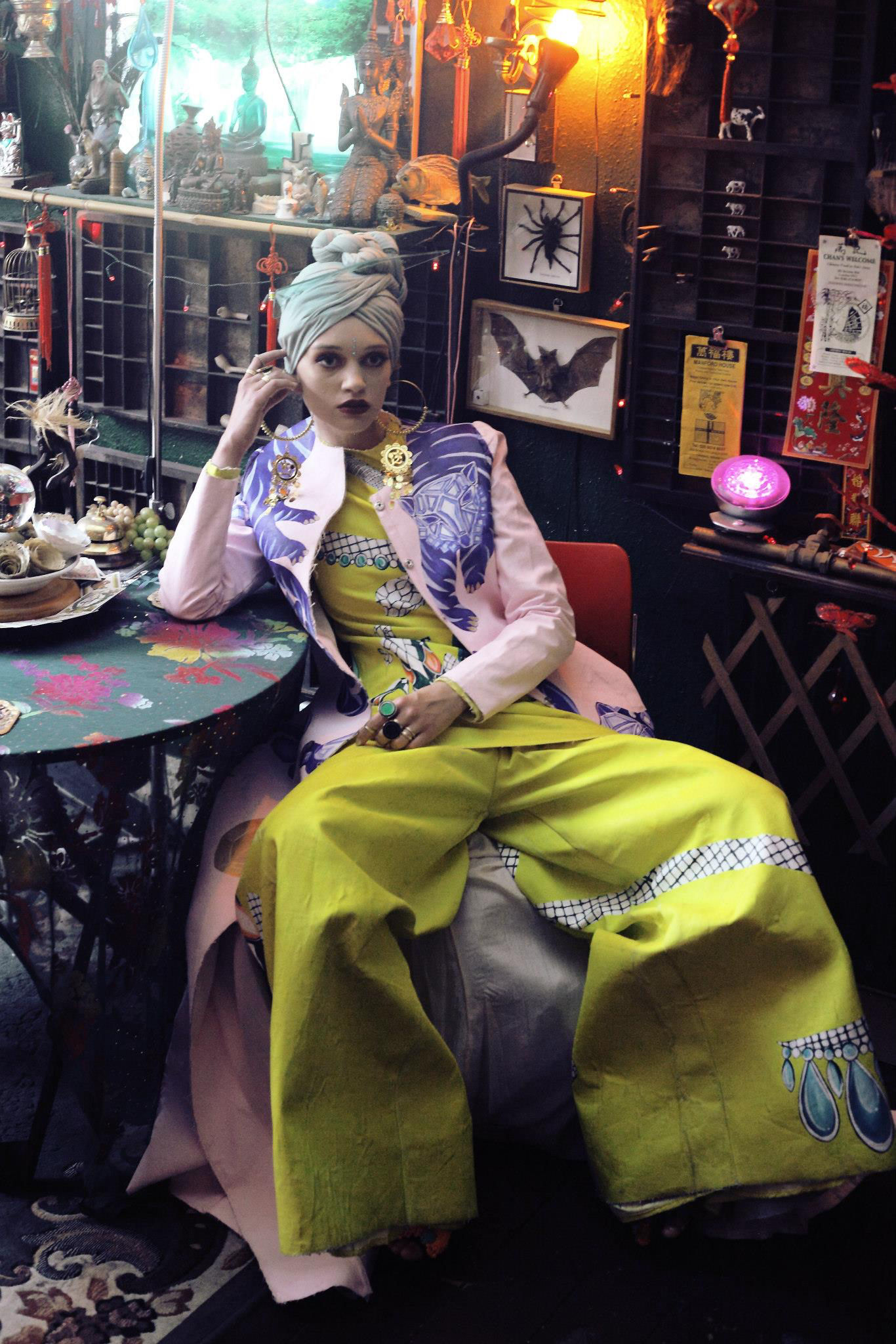 Mint Turban - Oriental Ambiance Series (Styled by Marina de Magalhaes)