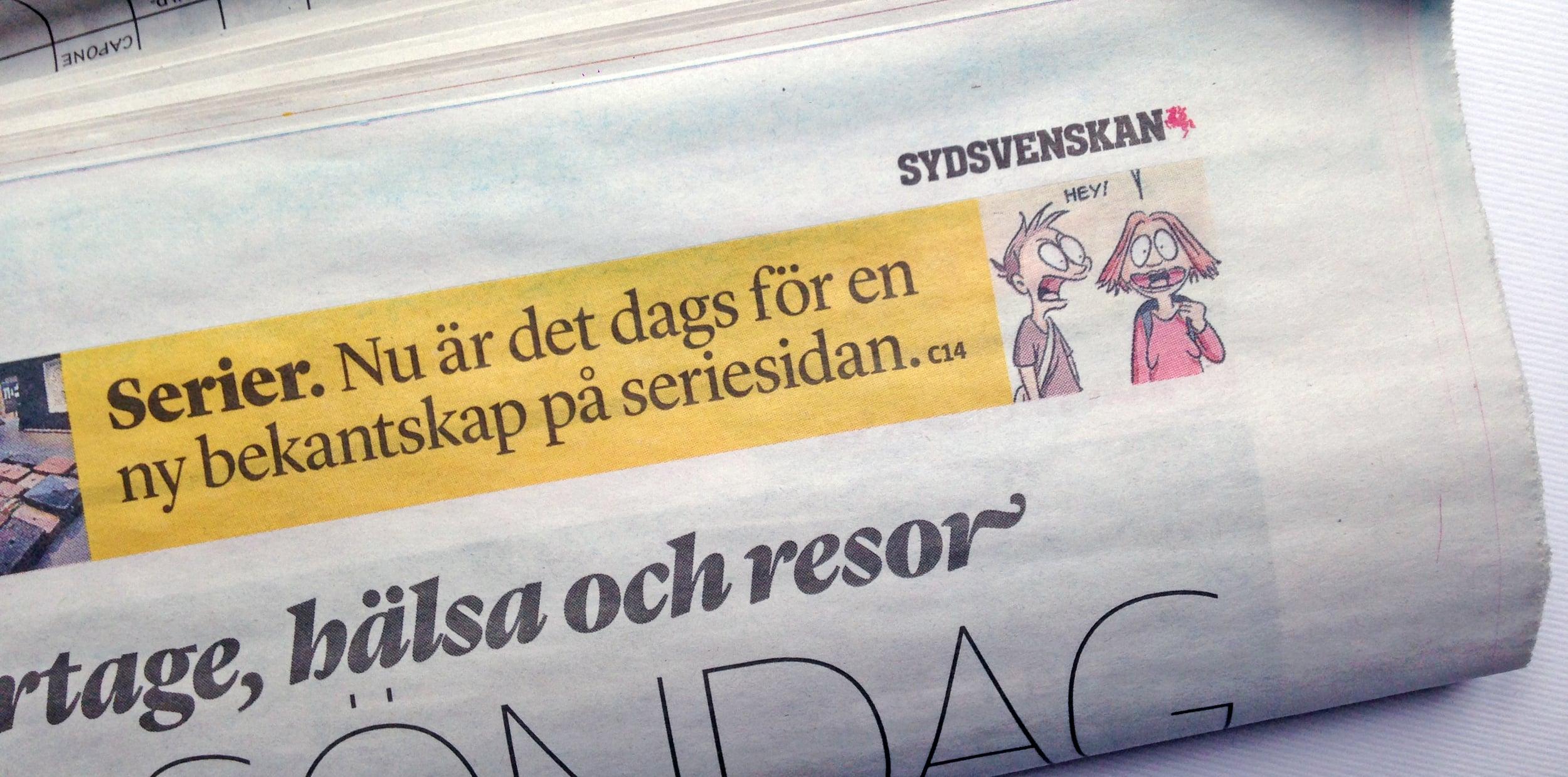 Framsida Sydsvenskan kultur, 27. december 2015.