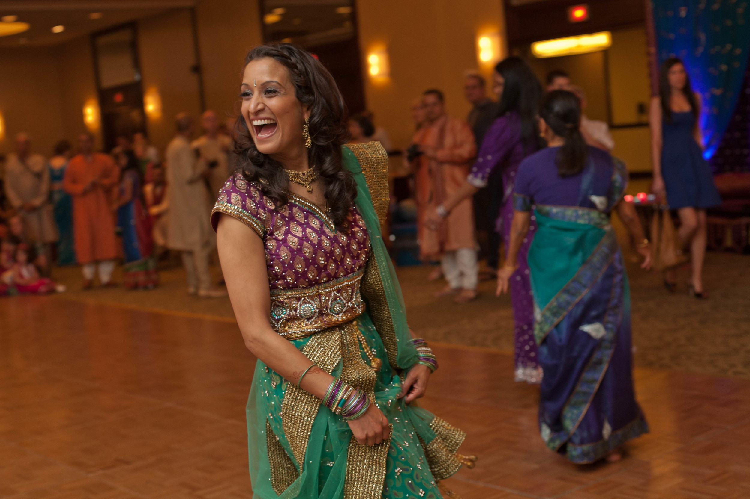Aditi getting the dancing started
