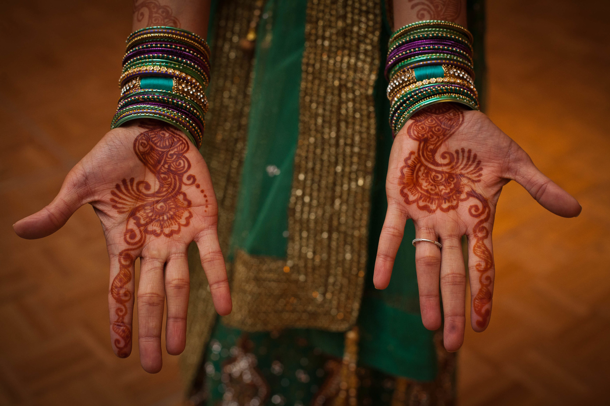 Aditi had BEAUTIFUL henna - and the party had henna stations where the guests could get temporarily inked, too!