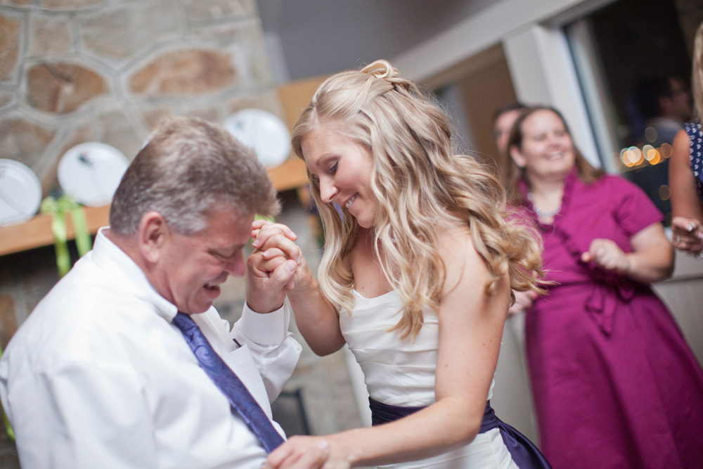 Michelle dancing with her dad.