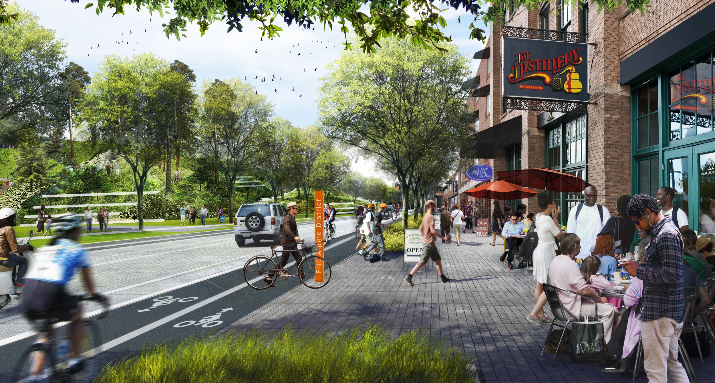 Chris Merritt's vision of Erie Boulevard as the Erie Eco-Transect