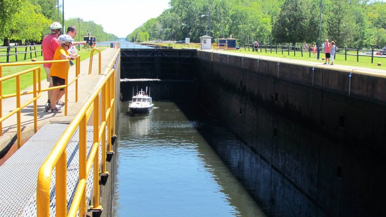 Erie Canal Lock 21 in Rome