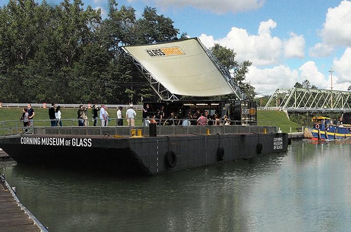 Glass Barge from the Corning Museum of Glass