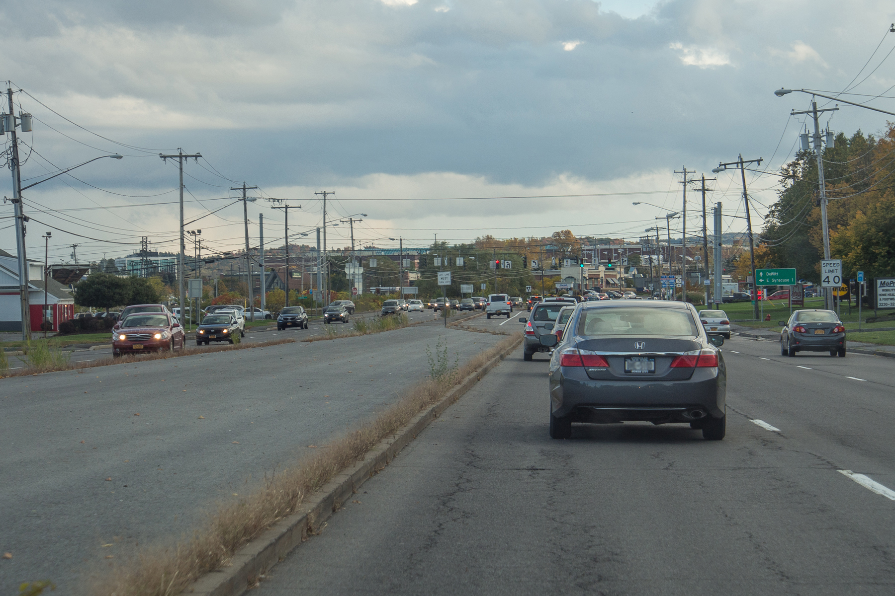 Existing conditions along Erie Boulevard East in DeWitt