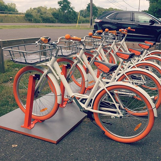 We're very excited to welcome @cusecycle to the Erie Canal Trail in DeWitt! We're hoping this will be the first of several installations to build upon as we continue to work toward an expanded trail network. Be sure to tag @elevatingerie if you have the opportunity to take one of these beauts for a spin!