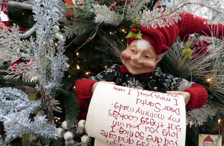 Christmas Elf Banner- Garden Supply Co