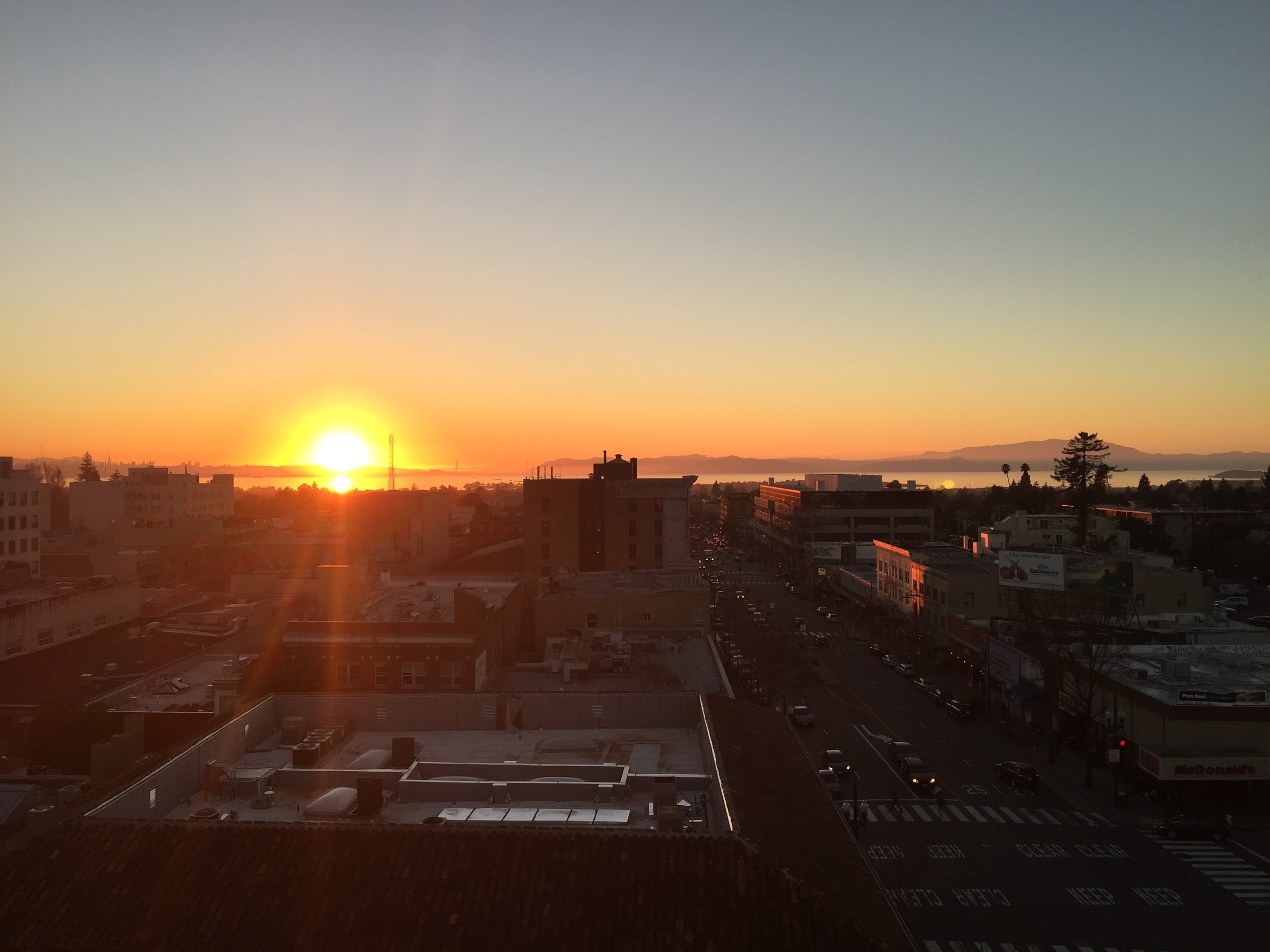Sure it's a cheesy metaphor - but it  is the actual  sunset on my last work day in San Francisco