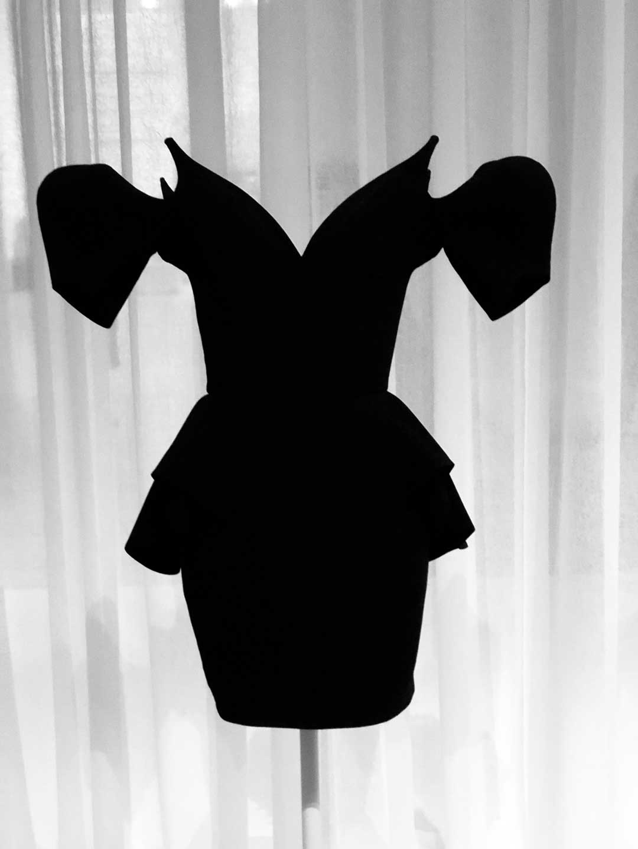 """Thierry Mugler """"Little Black Dress"""", 1981."""