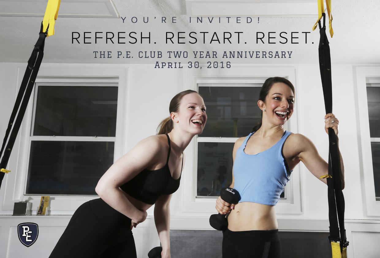 The P.E. Club Two Year Anniversary Celebration