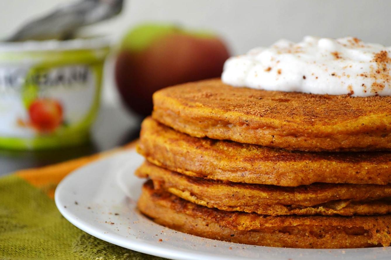 Pumpkin Protein Pancakes - The P.E. Club