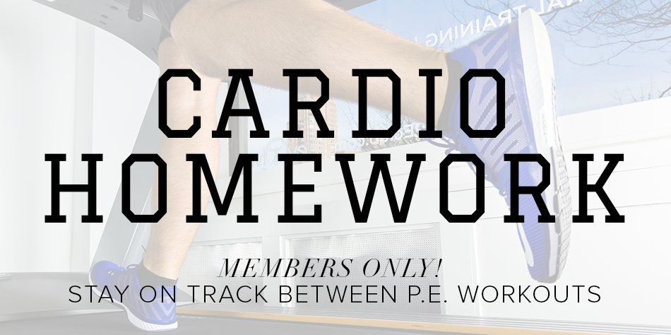 Cardio Homework - The P.E. Club