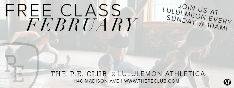 lululemon madison ave - free class x The P.E.Club