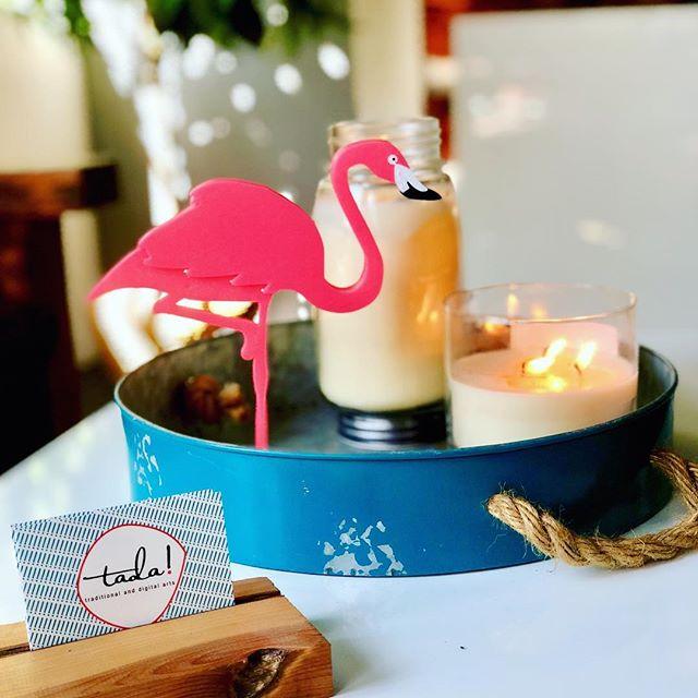 Sunday studio vibes. #tada  #flamingo #studiolife #artstudio #backtoart #3dprinter #candlelight #centerpiece #artistlifestyle #floridavibes