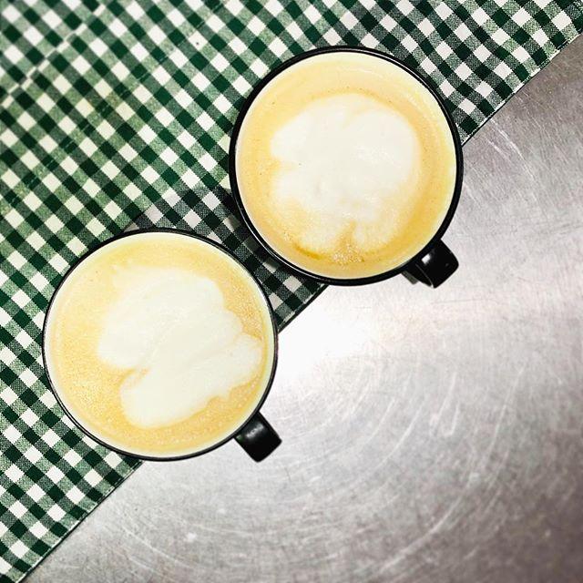 Studio days has a few perks. #artistlife #latte #almondmilklatte #studiolife #fortwo #homemade #caffienefix