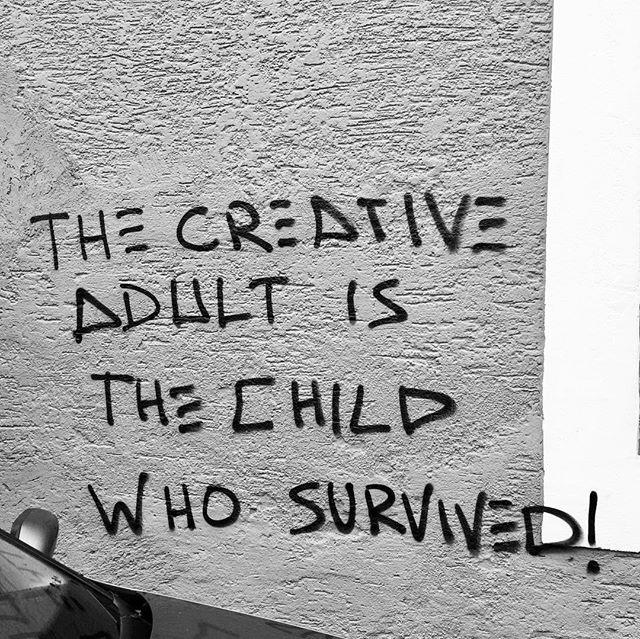 Random graffiti found in Bavaria. #truthbomb #survive #becreative #citymurals #tada #artistlife #staytruetoyourself