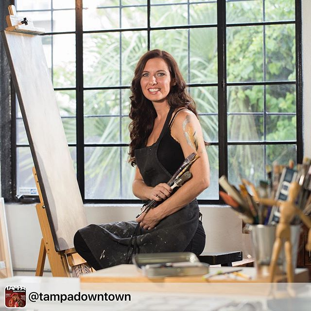 Regram of our boss lady: We sat down with local artist Meaghan Farrell Scalise from @tada_artists to talk art in Tampa, supporting creativity and more 🎨 Click the link in bio for the full story! . . . #tampadowntown #downtowntampa #channeldistrict #art #tampaart #tampa #tampafl #tampabay