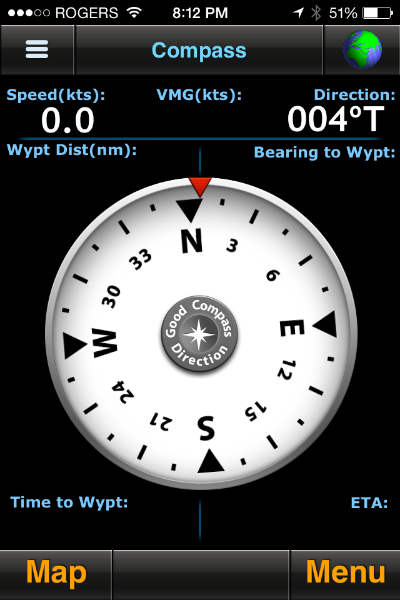 MotionX compass