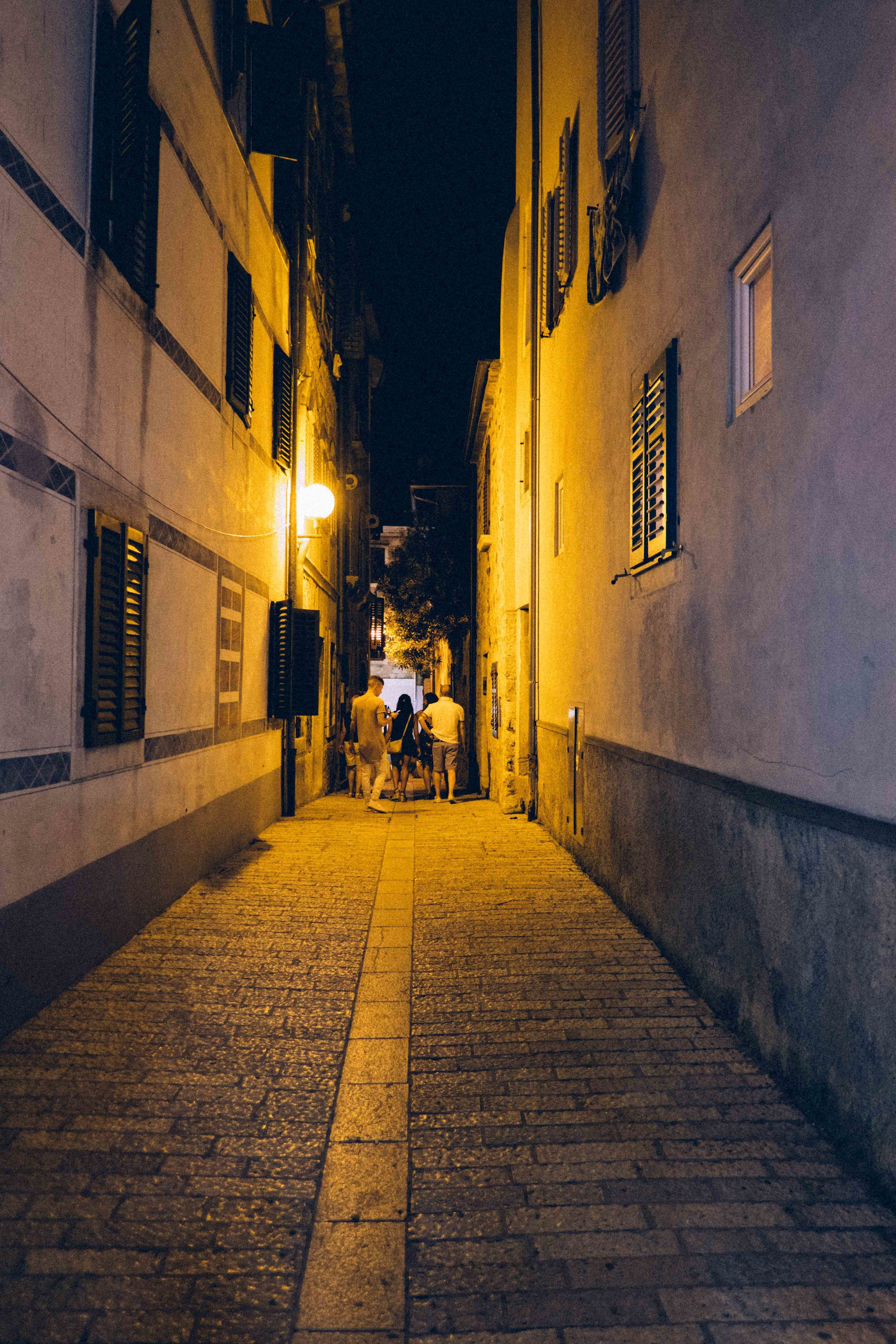 Porec at night