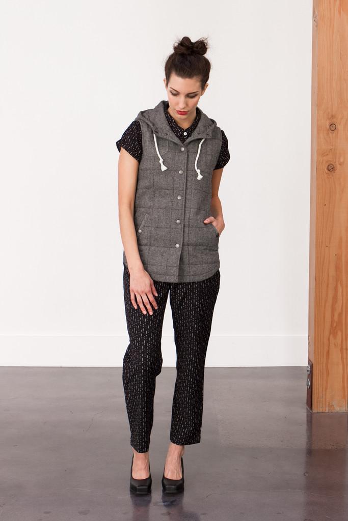 Bridge & Burn Kinney Herringbone Wool Vest