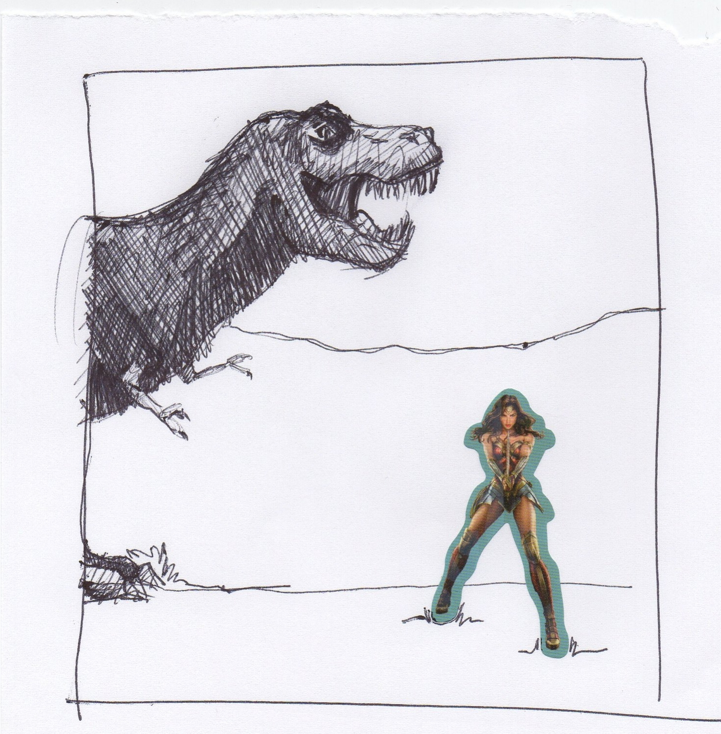 "216. February 25, 2018 - ""Shhhh...she's entering the tyrannosaur paddock."""