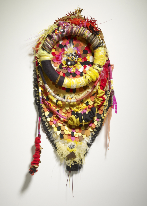 Primal, 2011, Fabric, found objects, rope, foam