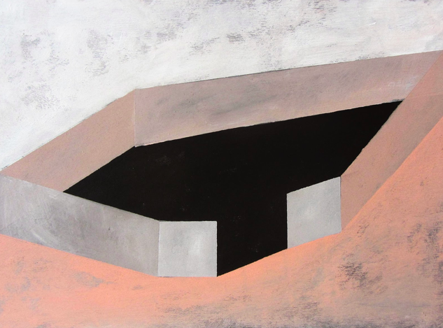 M Structure 2 , acrylic on wood, 30x40 cms
