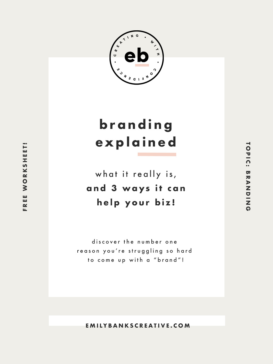 "Want to know the number one reason you're struggling so hard to come up with a ""brand""? Click through to find out!"