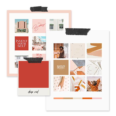 Signature Mood Board & Color Palette - You'll put together a Pinterest board containing all your visual inspiration, and I'll refine it down into a signature mood board and color palette. We'll use this as an opportunity to explore and establish a visual direction for your brand.