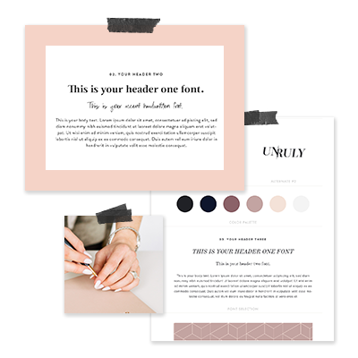 Expertly Paired Brand Font System - We'll select a system of fonts that tie in with your logo and visual direction to cover all kinds of heading + copy for your branded collateral and website.