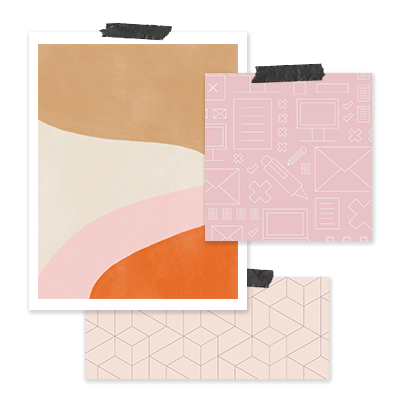Custom Pattern Design - We'll custom create a set of (up to x3) illustrated or textured patterns that you can use throughout your collateral or website. They'll set you apart from DIY brands and give you an awesome alternative to repetitive stock photos.