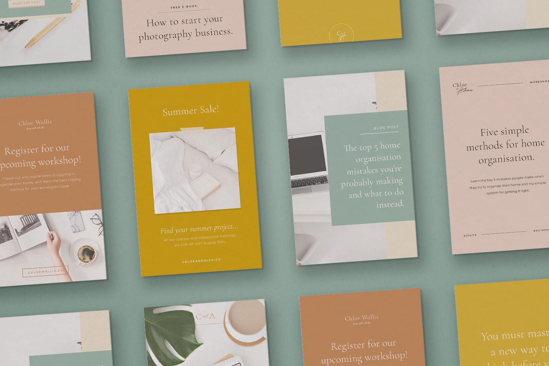 The Chloe Kit Pinterest Graphics - Emily Banks Creative