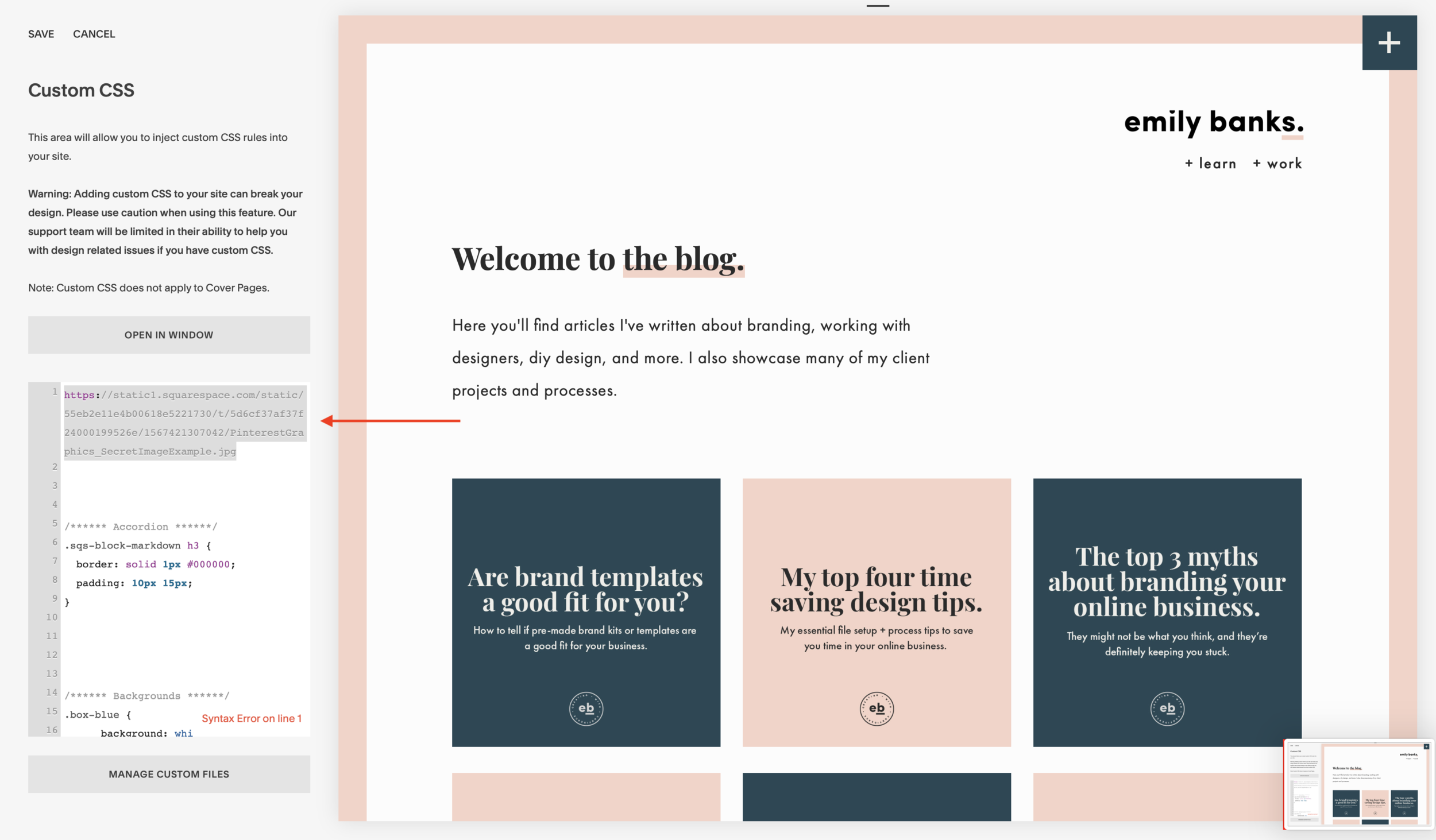 Get seen on Pinterest with this simple graphic design trick. - Emily Banks Creative